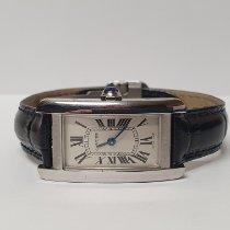 Cartier Tank Américaine neu 2019 Quarz Uhr mit Original-Box und Original-Papieren WSTA0016