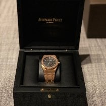 Audemars Piguet Royal Oak Selfwinding Or rose 41mm Noir Sans chiffres