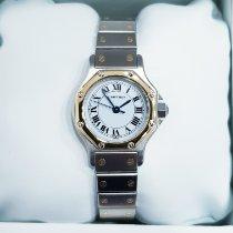Cartier Santos (submodel) Or/Acier 25mm Blanc Romains