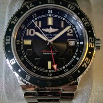 Breitling Superocean GMT Acier 41mm Noir Arabes
