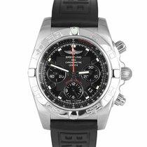 Breitling Chronomat 44 pre-owned 44mm Black Chronograph Date Rubber