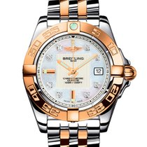 Breitling Galactic 32 Gold/Steel 31mm Mother of pearl No numerals