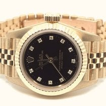 Rolex Oyster Perpetual Yellow gold Black No numerals