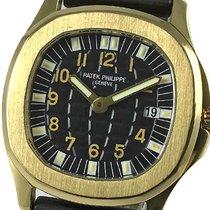 Patek Philippe Aquanaut Κίτρινο χρυσό 32mm Μαύρο Αραβικοί