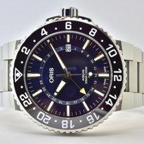 Oris Aquis GMT Date Steel 43,5mm Blue No numerals