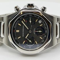 Girard Perregaux Laureato pre-owned 40mm White Chronograph Date Steel
