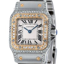 Cartier Santos (submodel) Gold/Steel 24mm Silver Roman numerals United States of America, New York, NEW YORK CITY