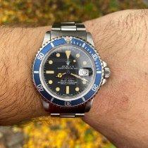 Rolex Submariner Date gebraucht Schwarz Stahl