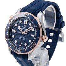 Omega Seamaster Diver 300 M Gold/Steel 42mm Blue No numerals