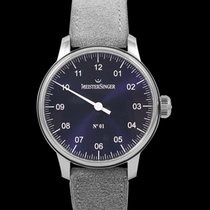 Meistersinger N° 01 Steel 43mm Blue