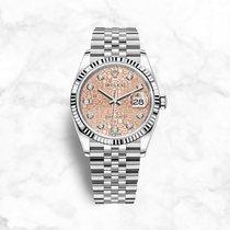 Rolex Datejust Or/Acier 36mm Rose Sans chiffres