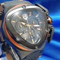Tonino Lamborghini nouveau Quartz Aiguilles luminescentes Chronomètre Couche PVD/DLC 53mm Acier Verre saphir