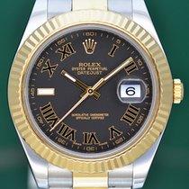 Rolex Datejust II Χρυσός / Ατσάλι 41mm Γκρι Ρωμαϊκοί Ελλάδα, Athens