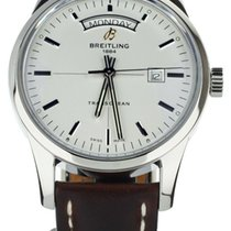Breitling Transocean Day & Date Steel 42mm White United States of America, Illinois, BUFFALO GROVE