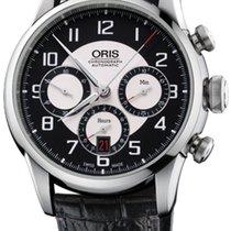 Oris Raid Steel 43.5mm Black Arabic numerals