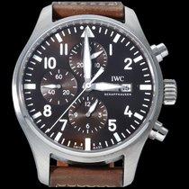 IWC Pilot Chronograph Acier 43mm Brun Arabes Belgique, Brussel