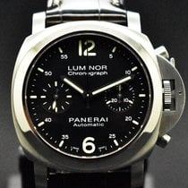 Panerai Luminor Chrono Stål 40mm Svart Arabiska