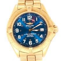 Breitling Superocean 42 Желтое золото 42mm Синий Aрабские