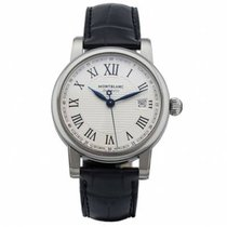 Montblanc new Automatic Central seconds Tempered blue hands 40mm Steel Sapphire crystal
