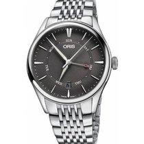 Oris Artelier Pointer Day Date Steel 40mm Grey No numerals