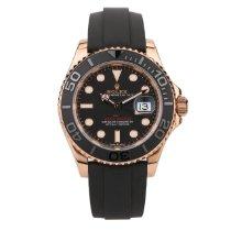 Rolex Yacht-Master 40 Or rose 40mm Noir Sans chiffres