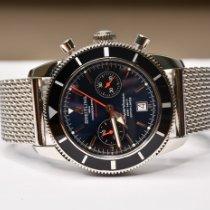 Breitling Superocean Heritage occasion 46mm Bleu Chronographe Date Plis