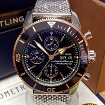 Breitling Superocean Héritage II Chronographe Золото/Cталь 44mm Черный