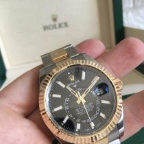 Rolex Sky-Dweller Gold/Steel 42mm Black No numerals