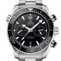 Omega Seamaster Planet Ocean Chronograph Acero 45.5mm Negro