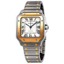 Cartier Santos (submodel) Steel 35mm Silver Roman numerals United States of America, New York, New York
