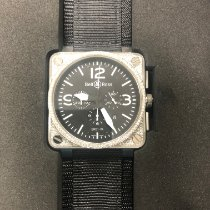 Bell & Ross BR 01-94 Chronographe pre-owned Black Chronograph Leather
