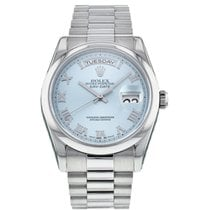 Rolex Day-Date 36 Platinum 36mm Blue United States of America, New York, New York