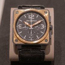 Bell & Ross BR 01-94 Chronographe Goud/Staal 46mm Zwart Arabisch