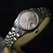 Rolex Oyster Perpetual Lady Date Acél 26mm Szürke Számjegyek nélkül