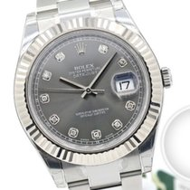 Rolex Datejust II 116334 Very good Silver 41mm Automatic