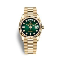 Rolex Day-Date 36 Yellow gold 36mm Green No numerals United States of America, Florida, Miami
