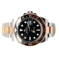 Rolex GMT-Master II pre-owned 40mm Black Date GMT Gold/Steel