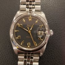 Rolex Steel Manual winding Black Arabic numerals 35mm pre-owned Oyster Precision