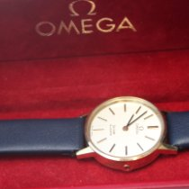 Omega De Ville Yellow gold 24mm Silver No numerals