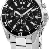 Jacques Lemans Steel Chronograph 2091 1-2091F new