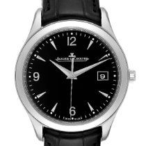 Jaeger-LeCoultre Master Control Date usados 39mm Negro Fecha Piel