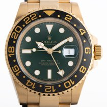 Rolex GMT-Master II Yellow gold 40mm Green No numerals