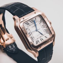Cartier Santos 100 Rose gold 36mm White Roman numerals United States of America, Texas, Houston