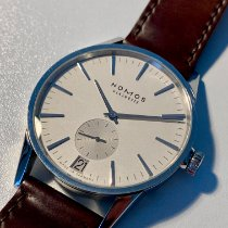 NOMOS Zürich Datum pre-owned 39.8mm White Date Leather