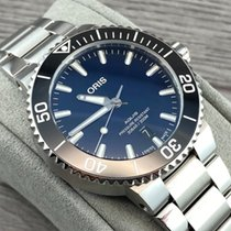 Oris Steel Automatic Blue No numerals 41.5mm new Aquis Date