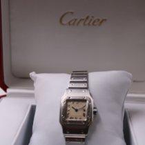 Cartier Santos Galbée Сталь 24mm Белый Римские