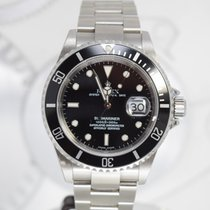 Rolex Acier Remontage automatique Noir Sans chiffres 40mm occasion Submariner Date