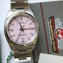 Rolex Oyster Perpetual 36 Staal 36mm Roze Geen cijfers