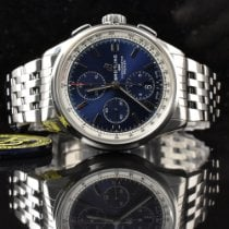 Breitling Steel 42mm Blue No numerals