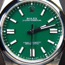 Rolex Oyster Perpetual Stahl 41mm Schwarz Keine Ziffern